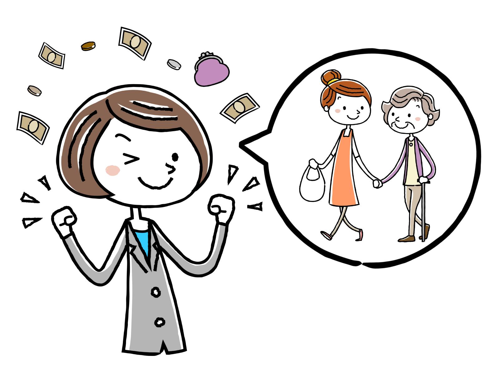 介護福祉士実務者研修修了者の給料額についてのイメージイラスト