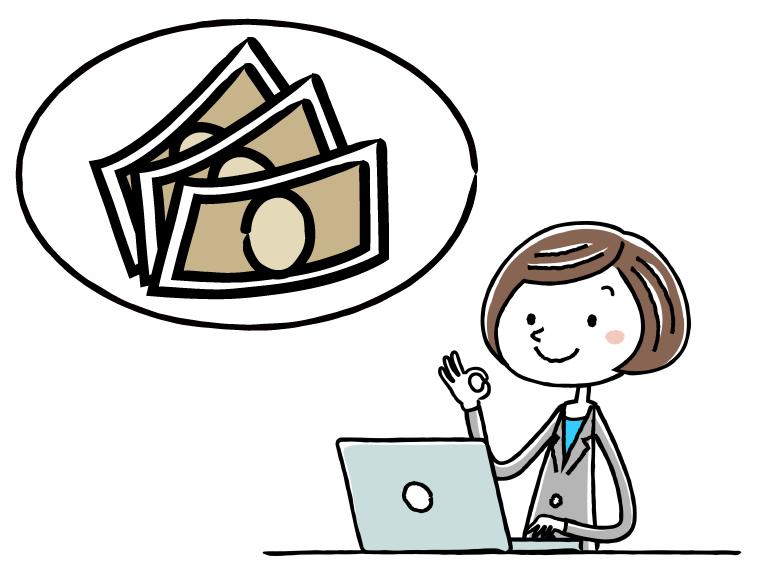介護事務の給料のイメージイラスト
