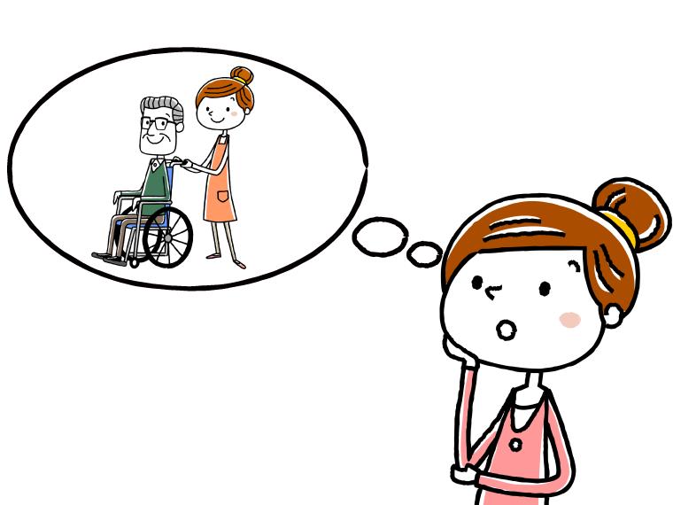 介護職の仕事探しに必要なもののイメージイラスト