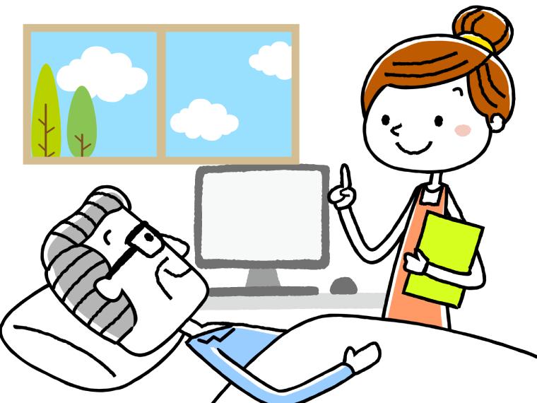 介護の現場で役立つ資格についてのイメージイラスト
