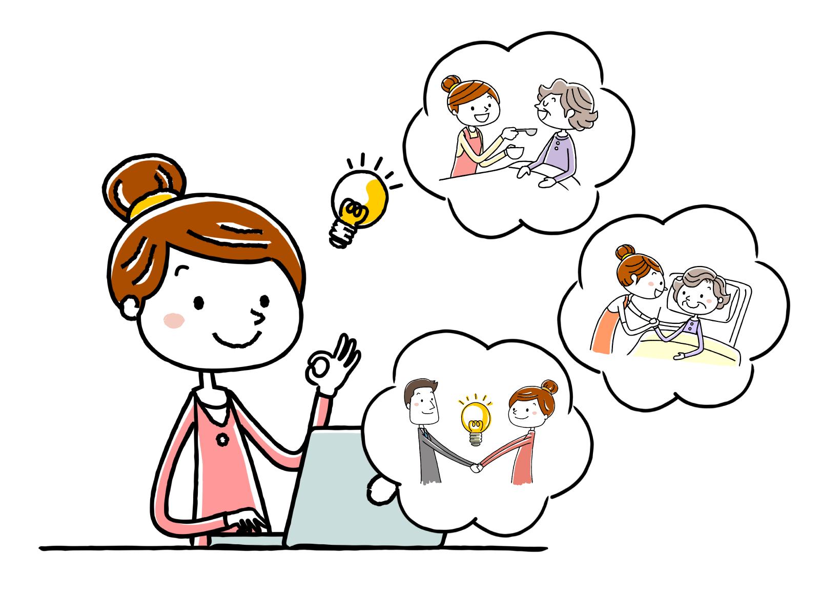 無資格の人が介護現場でできる仕事についてのイメージイラスト
