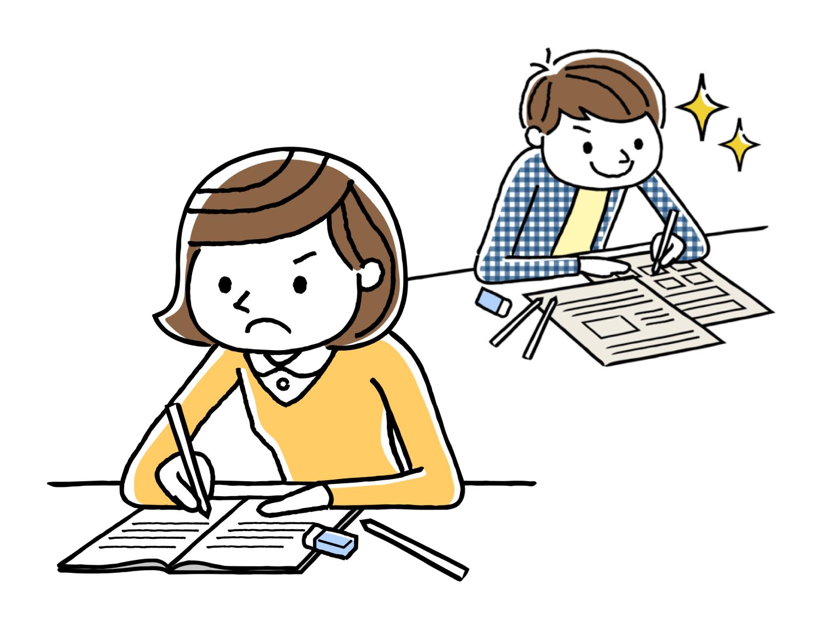 履歴書の、全体的な注意点のイメージイラスト