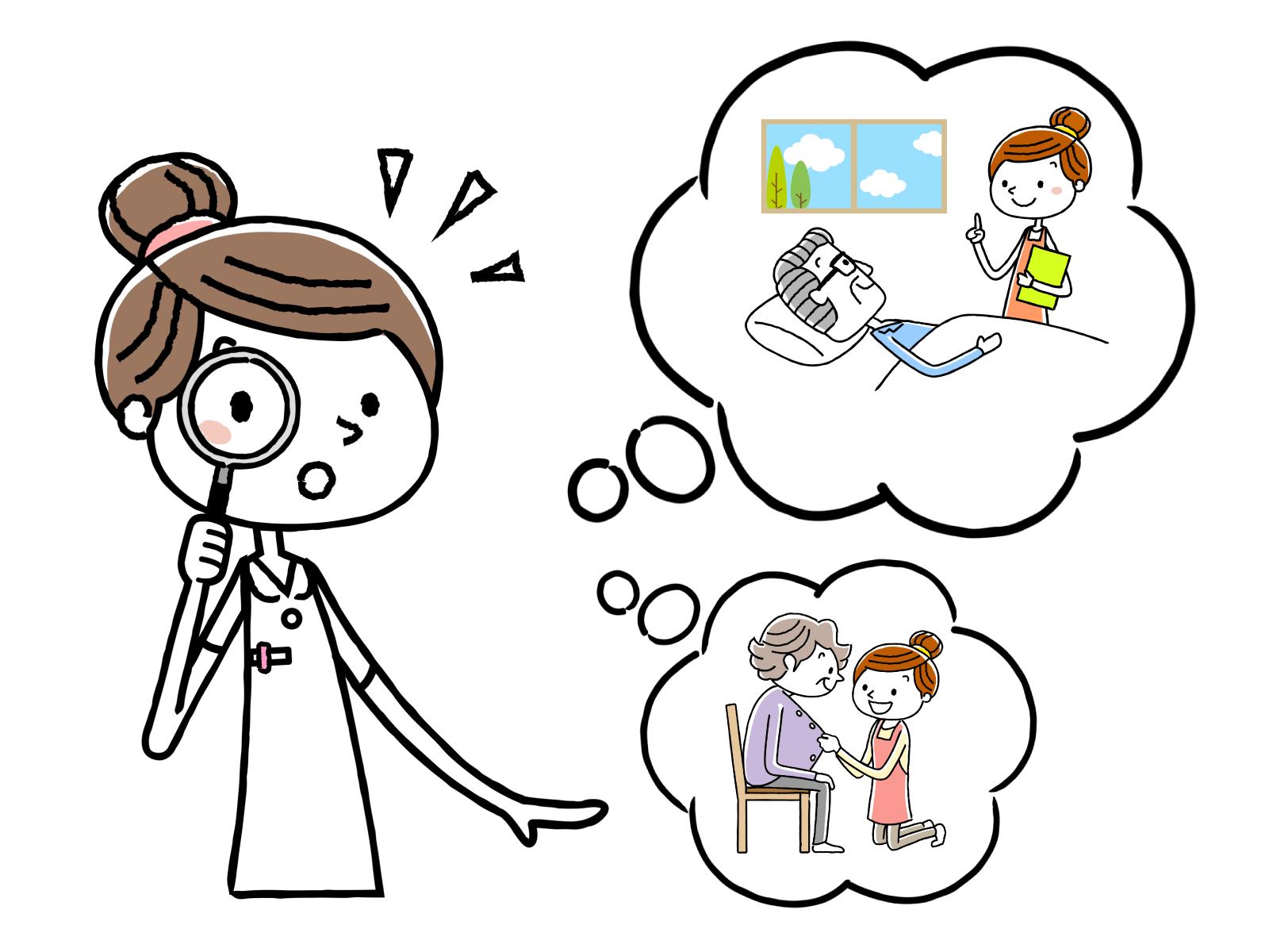 パートと契約社員、正社員の働き方についてのイメージイラスト