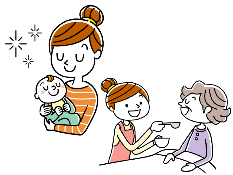 子育てと両立しやすいのイメージイラスト