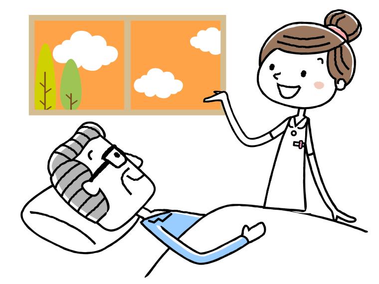 福祉施設で働く作業療法士のイメージイラスト