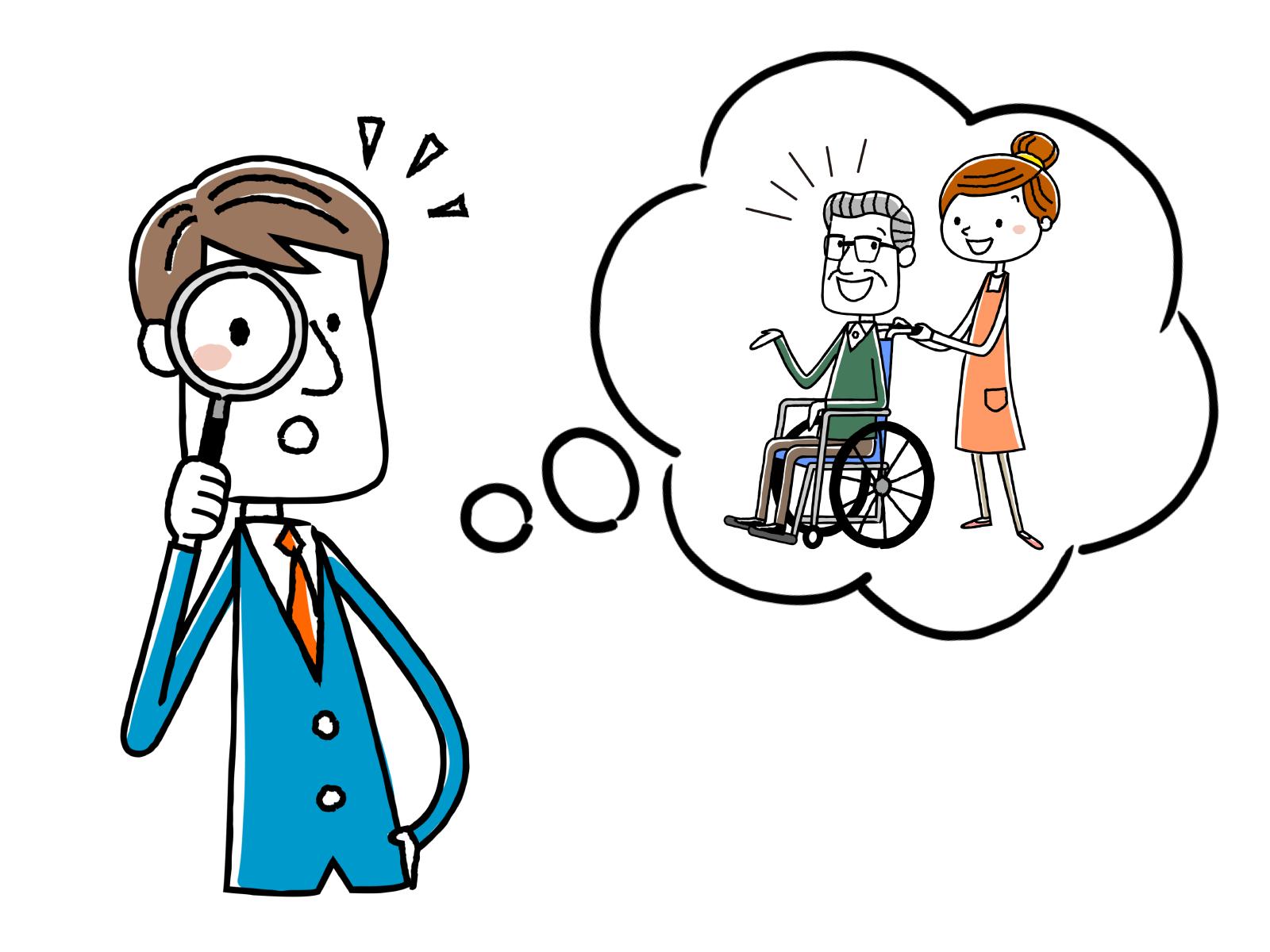 福祉用具の使用方法、選び方のアドバイスのイメージイラスト