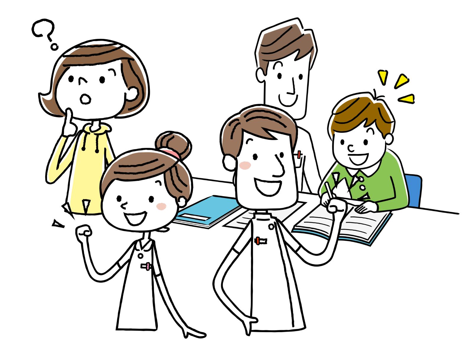福祉サービスが必要な人をサポートする仕事のイメージイラスト