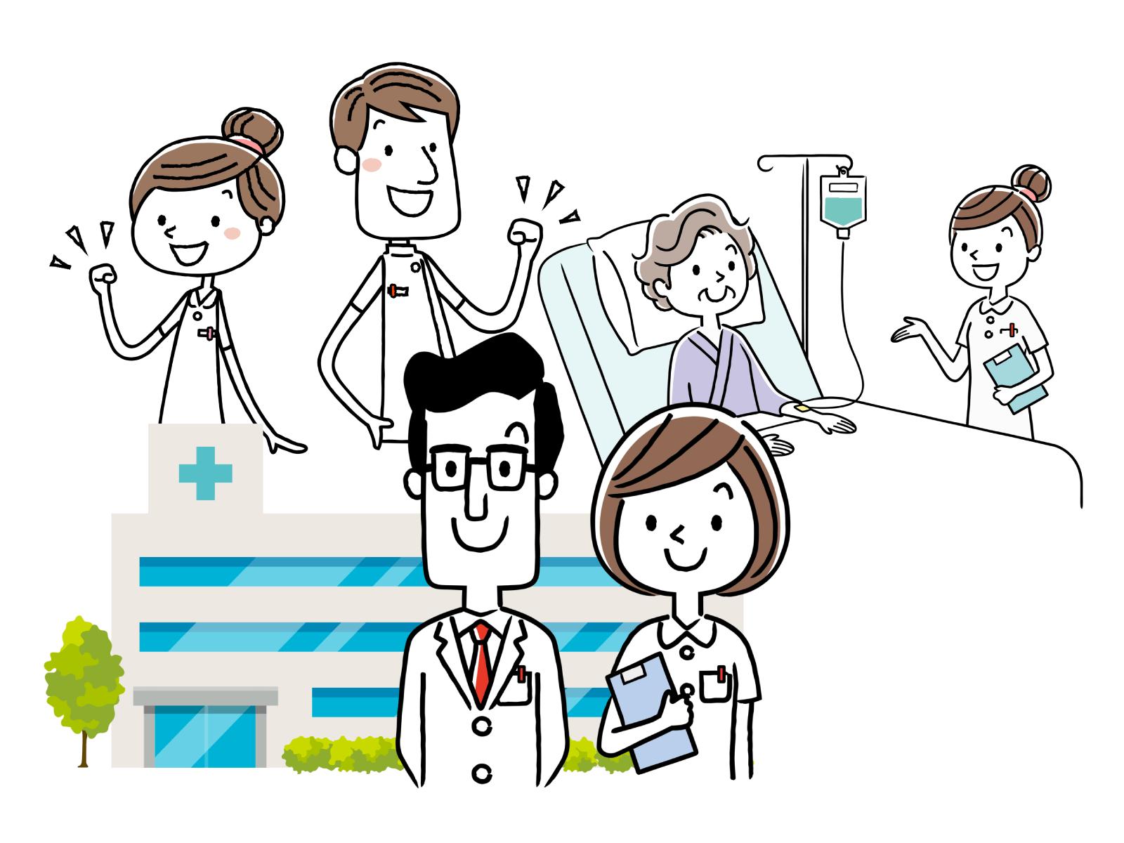 看護師の給料・平均、職場別の相場についてのイメージイラスト