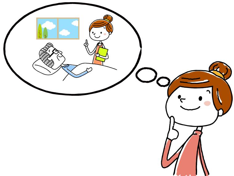 介護職の仕事内容についてのイメージイラスト