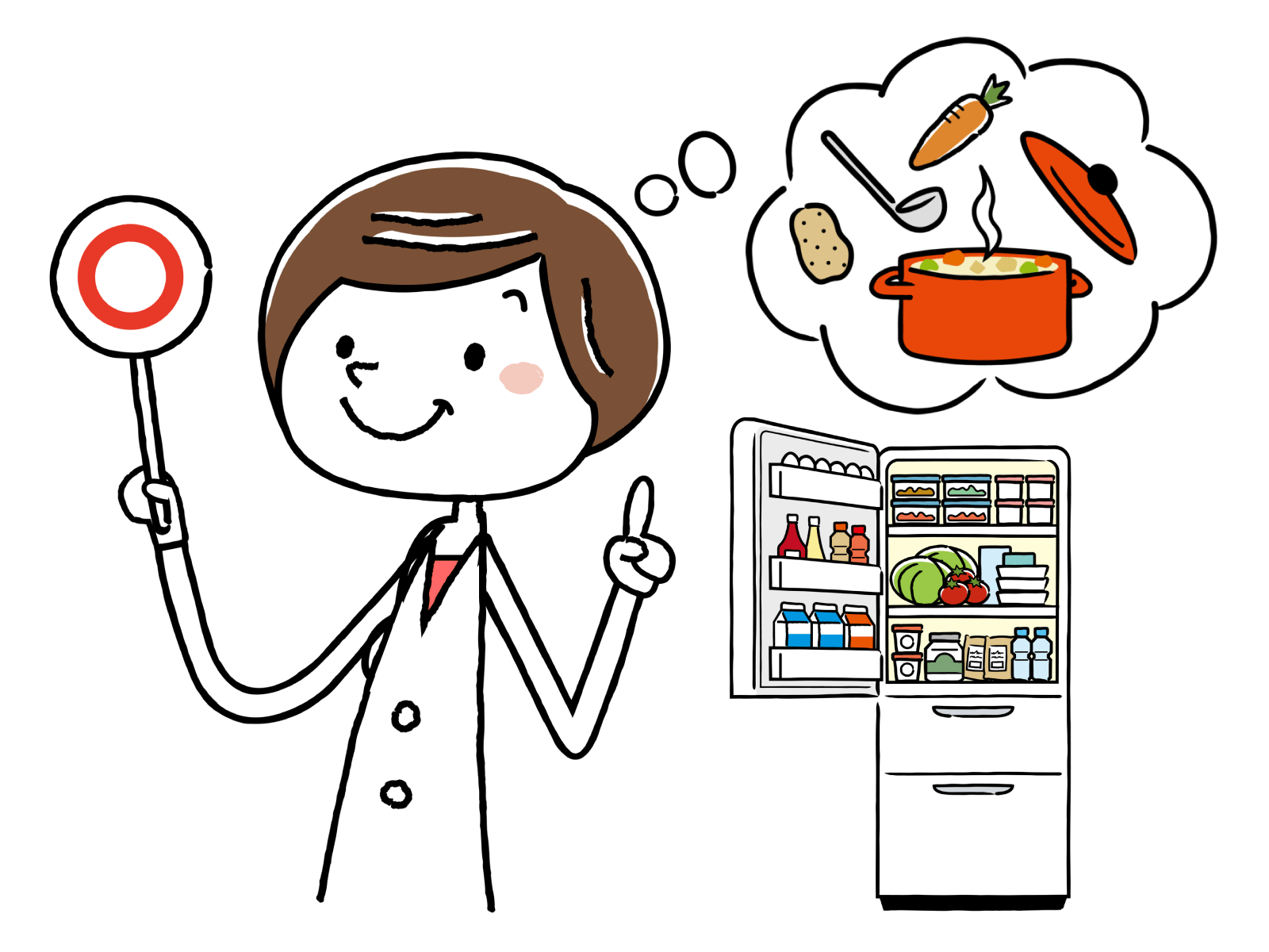 栄養士の受験資格、仕事内容、就職先についてのイメージイラスト