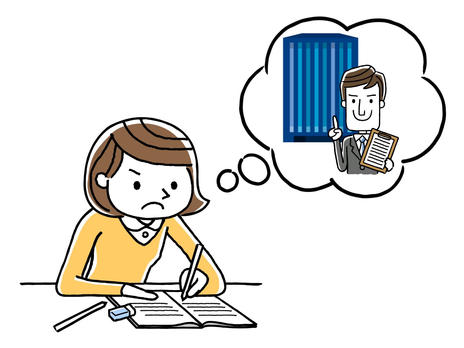 履歴書・職務経歴書の書き方のイメージイラスト