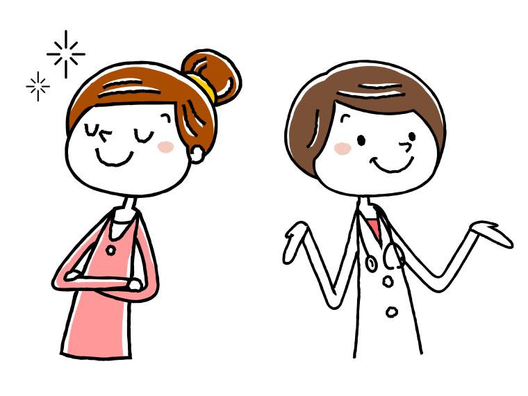 介護事務と医療事務の給料比較イメージイラスト