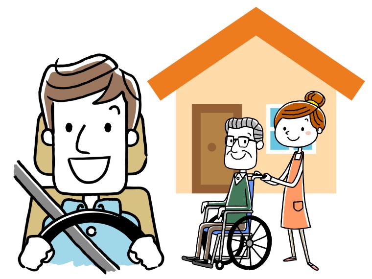 介護ドライバーの給料のイメージイラスト