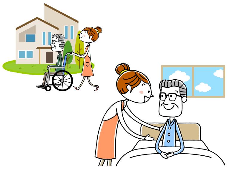 介護施設や訪問介護のイメージイラスト